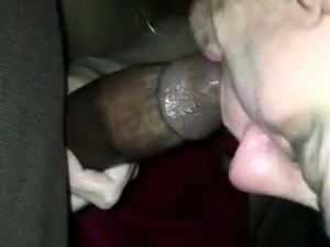 Interracial gloryhole hoe fucks and tugs big black cocks