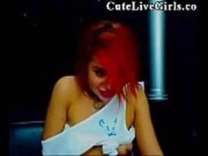 18 College Webcam POV CuteLiveGirls.com Amazing Slut Masturbating P1