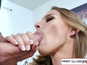 FirstClassPOV - Teen Jillian Janson suck a monster cock