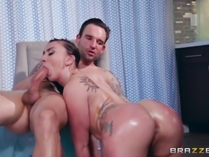 Mandy is all oiled up and ready to fuck. She looks so hot with lube rolling...