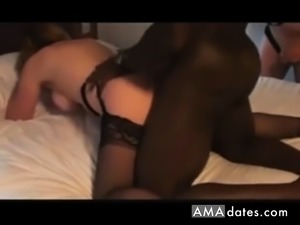 Mature getting BBC doggy style