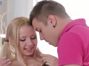 Awesome slender Belorussian nympho Olivia Grace is analfucked well