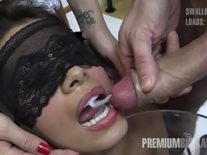 A Latin-American lesbian lady who prefers to stay incognito tries cum for the...