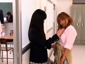 Striking Oriental girls taking care of their lesbian desires