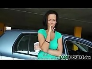 Groping Big Boobs Amateur In Public Parkade