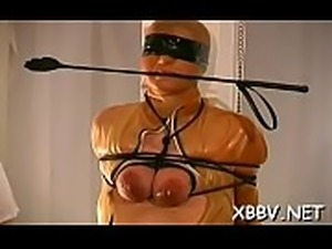 Non-professional gets pussy ravished during breast thraldom xxx
