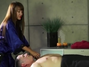 Quite buxom torrid Asian nympho Tiffany Rain is really happy to be fucked...