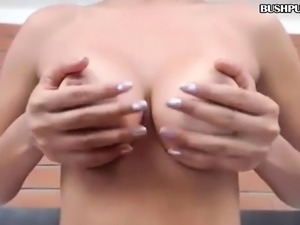 BBW with big tits and hairy pussy shakes nice big ass