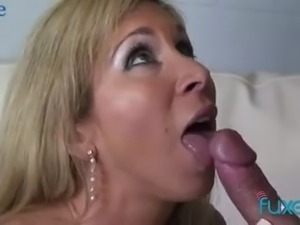 Kinky big racked housewife is so damn happy to be fucked missionary