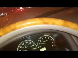 deepthroat blowjob while driving