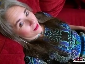 Mature lady Marie has a dildo which she uses for petting her wet pussy