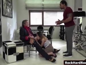Teen Esperanza gets fucked by black cock