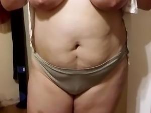 my wife showing her huge tits