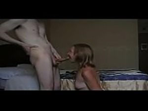 Horny step son fucks  MILF  mom  and gives facial!