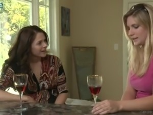 Shameless big breasted MILF Hayden Night enters the room and licks wet pussy