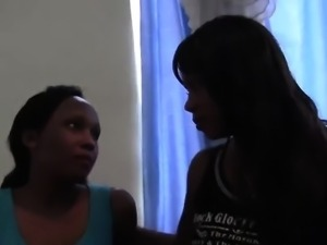 Busty ebony chicks know how to make each other cum quickly.