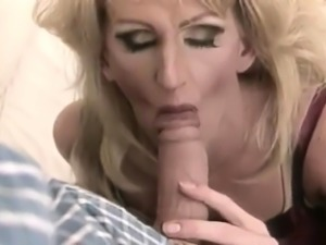 Big tit blonde MILF fucked by big cock