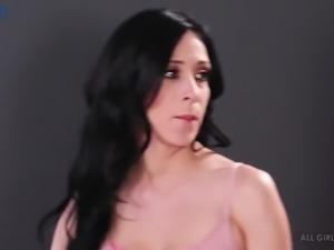 Amazing really hot lesbian Moka Mora is happy to treat her babe with massage