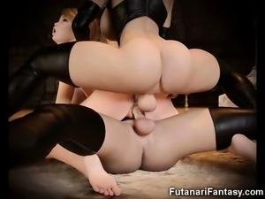 Hot 3D Futa Lesbians with Huge Dicks!