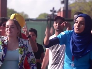Slutty College Hijabi Trying to Cheer