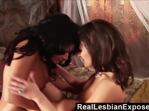 Two awesome big breasted masturbating lesbians gonna make you jizz hard