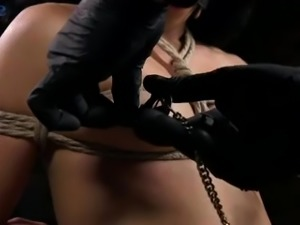 Enough flexible whore Amethyst Banks is ready for bondage and masturbation