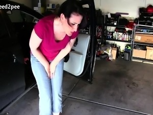 Super desperate to pee girls pissing their jeans 2018