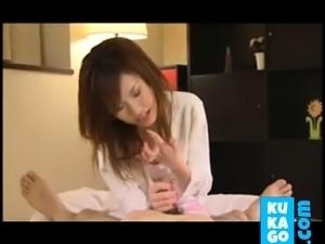 Great japanese girl, good handjob!!