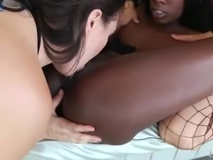 Svelte nympho Abella Danger enjoys using strapons during lesbian threesome