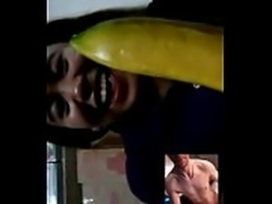 video chat sucks on banana