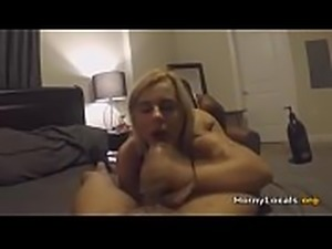 Hot blonde and two big black cocks