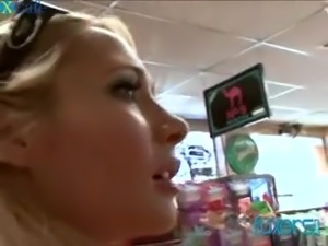 Light haired chicks have met outdoors and continue fucking in the house