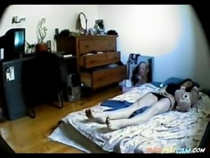 Spying a girl masturbating in bed bu JLS
