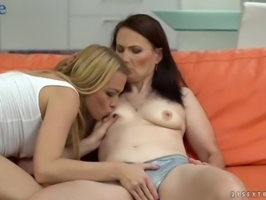 Lusty much older lady Alice Sharp is happy to work on soaking fresh pussy