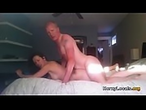 Sexy brunette fucks her boss