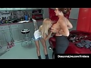 Mature Lady Deauxma Eats Out Busty Mechanic Brooke Tyler!