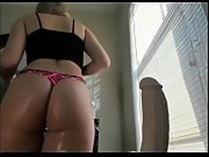Blonde tits big ass and dildo