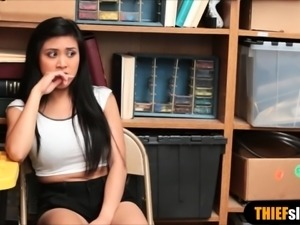 Pretty latina teen thief punish fucked by a LP officer