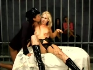 Crazy Lesbian Orgy with Cops and Inmates in Prison