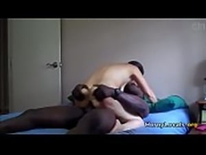 Slut girl riding a black cock