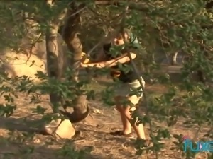 Three sporty bitches have a great idea how to please wet pussies