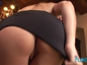 Bent over the chair well shaped blonde MILF gets fucked by black stud