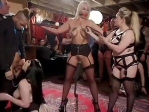 Submissive curvaceous Aiden Starr is tied up and brutally fucked