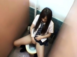 Horny Japanese teen gets caught masturbating on hidden cam