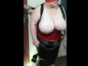 Mature Slaves Tits Beaten with a Spoon