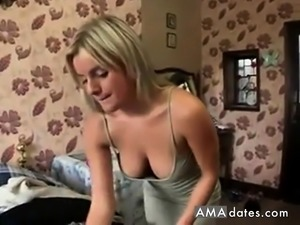 Amy Green's downblouse Pop Out While Doing Laundry