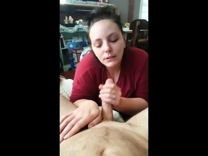 Amateur cfnm blowjob and sex