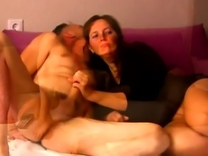 Sexy mature wife gives a blowjob and gets plowed from behind