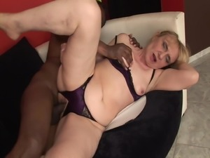 Granny fucked by black cock