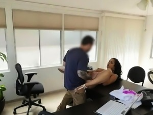 LOAN4K. Adorable girl pays with sex for her rent and gets...